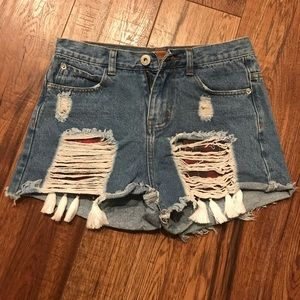 SOLD!! Pol denim shorts